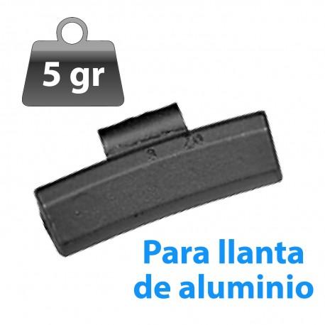 CONTRAPESA ZINC CLIP PARA LLANTA DE ALUMINIO 5GR 100UND/CAJA