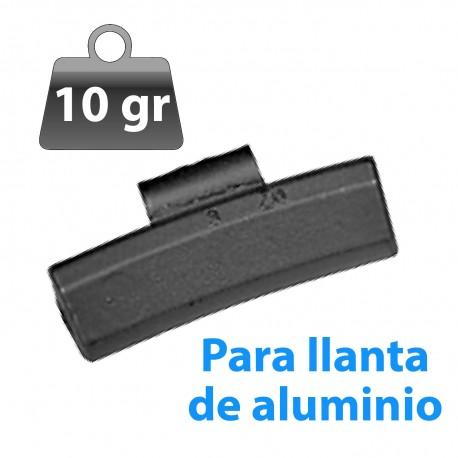 CONTRAPESA ZINC CLIP PARA LLANTA DE ALUMINIO 10GR 100UND/CAJA