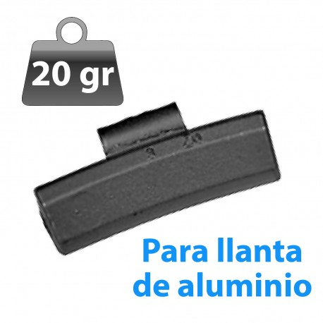CONTRAPESA ZINC CLIP PARA LLANTA DE ALUMINIO 20GR 100UND/CAJA
