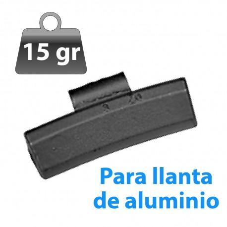 CONTRAPESA ZINC CLIP PARA LLANTA DE ALUMINIO 15GR 100UND/CAJA